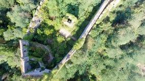 Widok z lotu ptaka grodowe ruiny Obraz Royalty Free