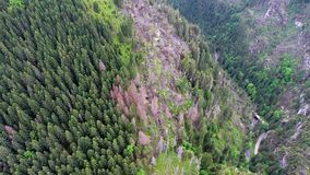 Widok z lotu ptaka góry dolinne Obrazy Stock