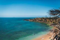 Widok Z Lotu Ptaka Guincho plaża, Cascais, Portugalia obrazy stock