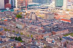 Widok z lotu ptaka Haga, pejzaż miejski, holandie zdjęcia stock