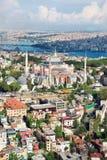 Widok z lotu ptaka Hagia Sophia Istanbuł Turcja Fotografia Royalty Free