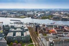 Widok z lotu ptaka Hamburg w Niemcy Obrazy Royalty Free