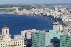 Widok z lotu ptaka Hawański miasto w Hawańskim, Kuba Zdjęcia Royalty Free