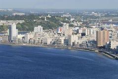 Widok z lotu ptaka Hawański miasto w Hawańskim, Kuba Obraz Royalty Free