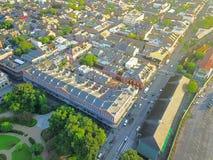 Widok z lotu ptaka historyczna dzielnica francuska w Nowy Orlean, Luizjana, U zdjęcie stock
