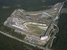 Widok z lotu ptaka Hockenheimring, Niemcy Fotografia Royalty Free