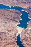 Widok z lotu ptaka Hoover tama i Uroczysty jar Zdjęcie Stock