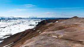 Widok z lotu ptaka Hverarönd Zdjęcia Royalty Free