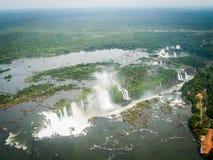 Widok Z Lotu Ptaka Iguazzu spadków krajobraz Obrazy Stock