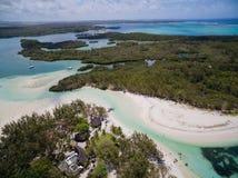 Widok Z Lotu Ptaka: Ile aux Cerfs - czas wolny wyspa Obraz Royalty Free