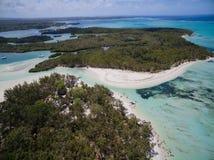 Widok Z Lotu Ptaka: Ile aux Cerfs - czas wolny wyspa Fotografia Royalty Free
