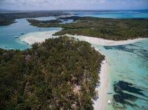 Widok Z Lotu Ptaka: Ile aux Cerfs - czas wolny wyspa Zdjęcie Stock