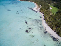 Widok Z Lotu Ptaka: Ile aux Cerfs - czas wolny wyspa Fotografia Stock