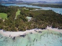 Widok Z Lotu Ptaka: Ile aux Cerfs - czas wolny wyspa Zdjęcia Stock