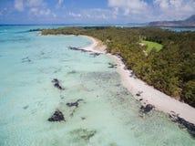 Widok Z Lotu Ptaka: Ile aux Cerfs - czas wolny wyspa Obraz Stock