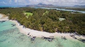 Widok Z Lotu Ptaka: Ile aux Cerfs - czas wolny wyspa Zdjęcie Royalty Free