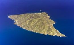 Ażio Efrstratios wyspa, Egejska, Grecja, antena obrazy stock