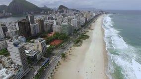 Widok z lotu ptaka Ipanema plaża Rodrigo De Freitas Laguna i Leblon wyrzucać na brzeg Rio De Janeiro Brazylia zbiory