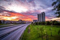 widok z lotu ptaka Ipoh, Perak, Malezja obraz stock