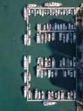 Widok z lotu ptaka jachty w Miami plaży zdjęcie royalty free