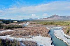 Widok z lotu ptaka jar zatoczka w Yukon zdjęcia royalty free