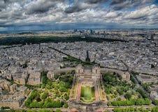 Widok Z Lotu Ptaka Jardins Du Trocadï ¿ ½ ro i los angeles obrona przy Paryż Obrazy Stock