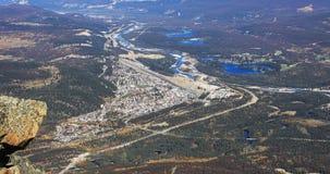 Widok z lotu ptaka jaspis w Kanada Obraz Stock