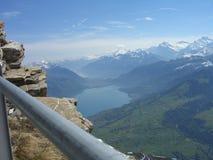 Widok z lotu ptaka Jeziorny Thun Obraz Stock