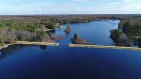 Widok Z Lotu Ptaka jezioro i tama zbiory