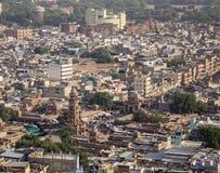 Widok z lotu ptaka Jodhpur, India zdjęcie stock