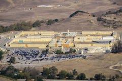 Widok z lotu ptaka Kalifornia mężczyźni «s kolonia, jedyny więzienie stanowe lokalizował północnego zachód miasto san luis Obispo fotografia stock