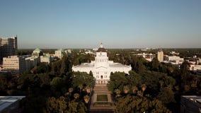Widok z lotu ptaka Kalifornia stanu Capitol sacramento zbiory