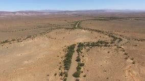 Widok z lotu ptaka Karoo krajobraz - Południowa Afryka zdjęcie wideo