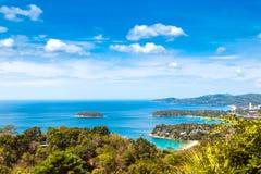 Widok z lotu ptaka Kat, Karon, Patong widoku punkt, Phuket, Tajlandia zdjęcia stock