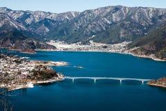 Widok z lotu ptaka Kawaguchiko jezioro Obrazy Royalty Free