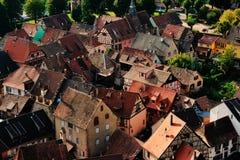 Widok z lotu ptaka Kaysersberg, Francja Fotografia Royalty Free