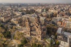 Widok z lotu ptaka kościół Świątobliwy Mark zdjęcie royalty free