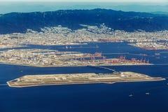 Widok z lotu ptaka Kobe lotnisko w Kobe obraz stock