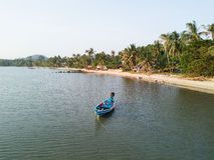 Widok Z Lotu Ptaka Koh Phangan plaża Fotografia Stock