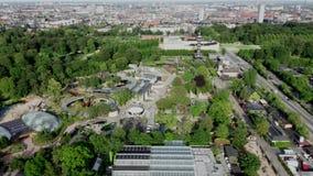 Widok z lotu ptaka Kopenhaga zoo, Dani zdjęcie wideo