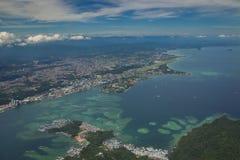 Widok z lotu ptaka Kot Kinabalu Zdjęcie Stock