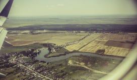 widok z lotu ptaka Krajobraz Obraz Royalty Free