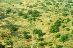Widok z lotu ptaka krajobraz w Południowy Sudan Obraz Stock