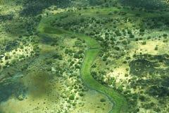 Widok z lotu ptaka krajobraz w Południowy Sudan Zdjęcia Stock