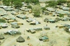 Widok z lotu ptaka krajobraz w Południowy Sudan Fotografia Royalty Free