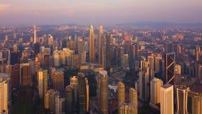 Widok z lotu ptaka Kuala Lumpur śródmieście, Malezja Pieniężny okręg i centra biznesu w mądrze miastowym mieście w Azja drapacz c obrazy stock