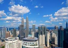 Widok z lotu ptaka Kuala Lumpur śródmieście, Malezja Pieniężny okręg i centra biznesu w mądrze miastowym mieście w Azja drapacz c zdjęcie stock