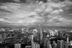 Widok z lotu ptaka Kuala Lumpur miasto Zdjęcie Royalty Free