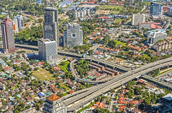 Widok z lotu ptaka Kuala Lumpur miasto Zdjęcie Stock