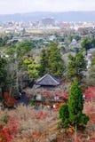 Widok z lotu ptaka Kyoto, Japan Fotografia Stock